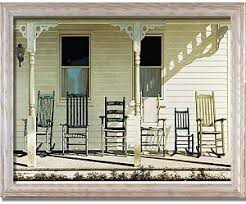 chair family front porch rockers by lu zhen framed art print at
