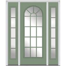 glass outside door mmi door 64 in x 80 in clear left hand craftsman 1 4 lite