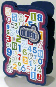 a funny birthday card with numbers you can make for any age