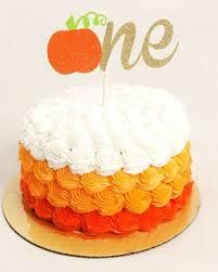 one cake topper pumpkin cake topper cake