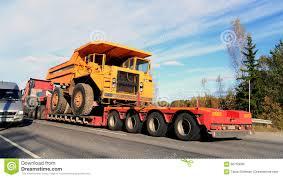 volvo trailer truck volvo bm 540 rigid dump truck on truck trailer as wide load
