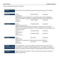 types of resume formats different types of resumes for freshers resume format