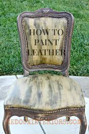 Leather Sofa Refinishing How To Paint Leather Or Vinyl Chairs With Cece Caldwell U0027s Paints