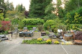 flagstone pavers patio exterior design outstanding backyard waterfall pictures for