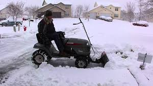 craftsman lt2000 with snow blade youtube