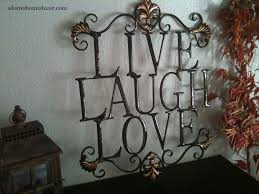 live laugh love metal sign wall decor shabby chic cottage country
