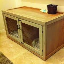 dog crate end table wooden dog kennel indoor wood dog house by