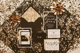 new years weddings black and gold new year s wedding ruffled