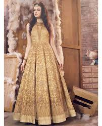 Wedding Dress Online Shop Buy Golden Colour Embroidered Wedding Dress Online Shopping