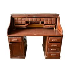 circa 1900 gunn furniture oak rolltop desk ebth
