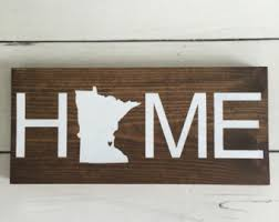 state wood minnesota sign etsy