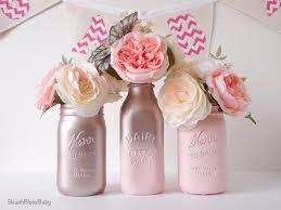 rustic home wedding decor painted mason jars milk bottles vase