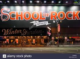 new york city usa of rock the musical on winter garden