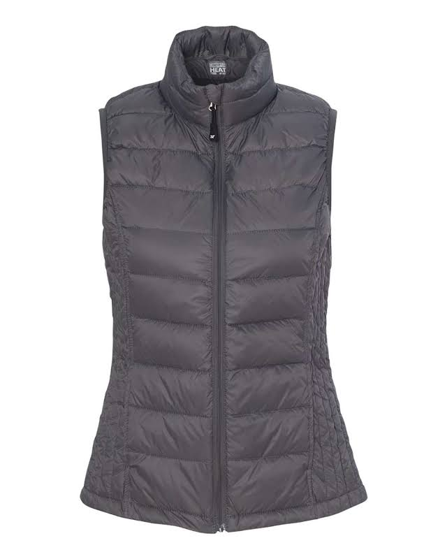 Weatherproof 32 Degrees Packable Down Vest Dark Pewter M