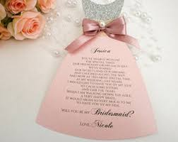 bridesmaid invitation card will you be my bridesmaid invitation bridesmaid card how to