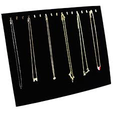 necklace display case images Ogrmar black velvet 17 hook necklace jewelry tray display jpg