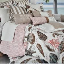 Beach Cottage Bedding Coastal Collection Sea Life King Quilt Seashells Coral Beach
