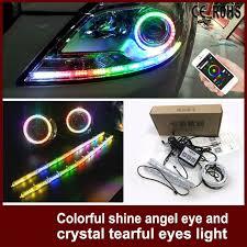 ring light effect app tcart nice app control led angel eyes halo rgb car styling rings