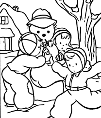 christmas snowman coloring pages print winter coloring pages