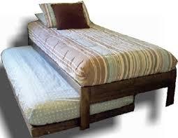 amazon com santa cruz twin bed with trundle rustic walnut