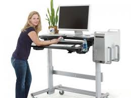 Standing Or Sitting Desk 60 Crank Adjustable Height Sit To Stand Desk Up Store With Regard