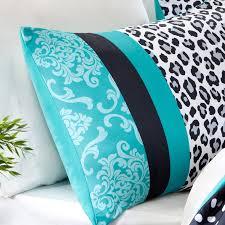 Cheetah Twin Comforter Mizone Chloe Twin Comforter Set Teal Leopard Free Shipping