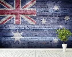 mural on wood australian flag on wood wallpaper wall mural wallsauce australia