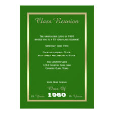 class reunion invitations u0026 announcements zazzle