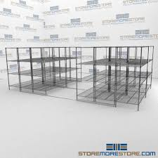 Metal Wire Shelving by Mobile Stacking Wire Shelves High Density Metal Wire Storage