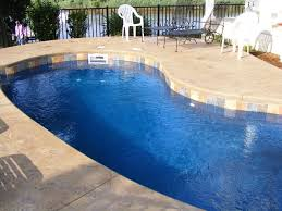 Outdoor Areas by Pool Design Simple Inground Fiberglass Pool With Marble Paving