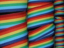 striped grosgrain ribbon 5 yards rainbow stripe grosgrain ribbon