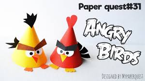 how to make angry birds papercraft easy kids craft my paper