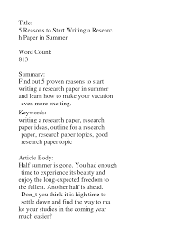 How To Write A Good Research Paper Images Images How To Write An A Research Paper A Research