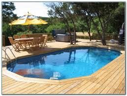 above ground pool wood deck ideas decks home decorating ideas