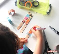 mollymoocrafts quick craft craft stick dolls