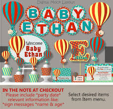 air balloon baby shower decorations package