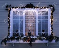 Outdoor Reindeer Christmas Decorations by Exterior Christmas Decorations Stock Photo Picture And Royalty