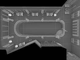 Swimming Pool Interior 3d Asset Cgtrader