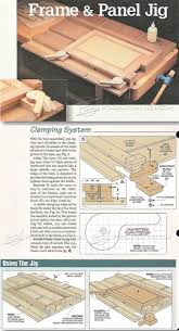 cabinet door router jig frame and panel gluing up jig construction doors and woodworking