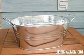 galvanized tub planter unoriginal mom