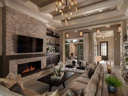 lighting beautiful living room with transitional chandeliers and