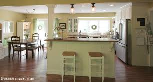 limestone countertops kitchen island with columns lighting