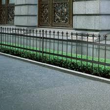 equipment ornamental security palisade fence steel black