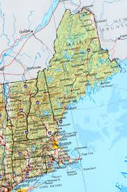 Map Of The United States East Coast by Reference Map Of New England State Ma Physical Map Printables