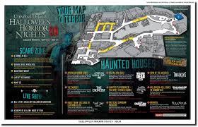 universal halloween horror nights map