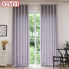 Gray Blackout Curtains Aliexpress Buy Modern Solid Color Blackout Curtains For
