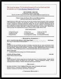 child care worker sle resume 28 images exle of resume for