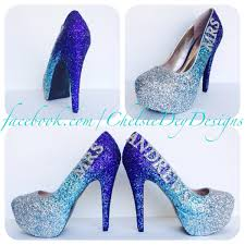 silver and royal blue wedding blue and purple heels qu heel