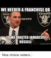 Russell Meme - we needed a franchise qb sowedrafted jamarcus russell