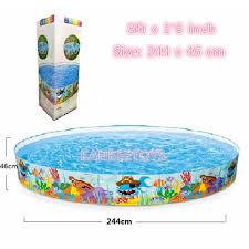 intex 8ft ocean reef snapset instant kids swimming pool kb 56453